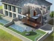 Imagen de casa con geotermia